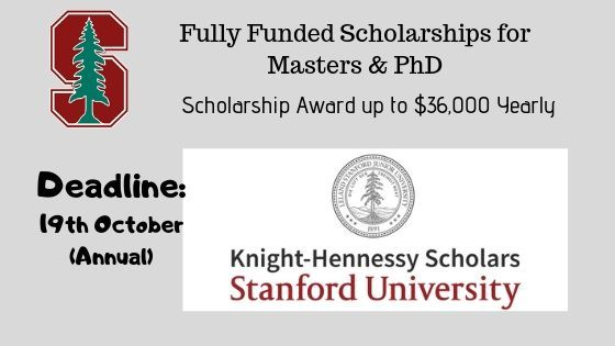 Knight Hennessy Scholarship At Stanford University Usa