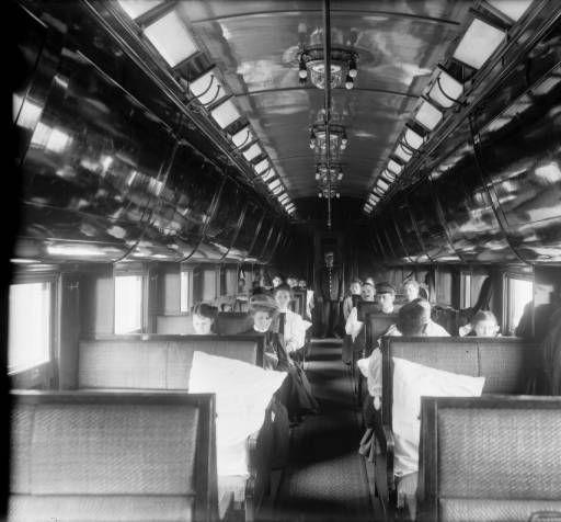 Colorado Midland Railway interior of Pullman Car :: History Colorado