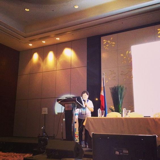 Dr Casabal introduces the next speaker #PNHRSph #SafePH #HealthResearchPH #PLDThomefiber