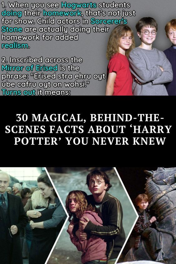 30 Magical Behind The Scenes Facts About Harry Potter You Never Knew Harry Potter Facts Harry Potter Film Popular Book Series