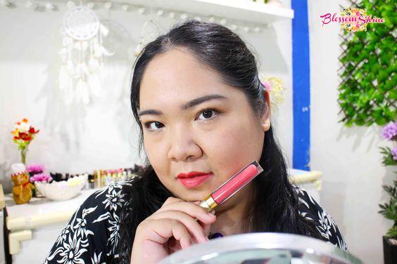 Lip Swatch Poppy Dharsono Liquefied Matte Lip Color 05 - Peony