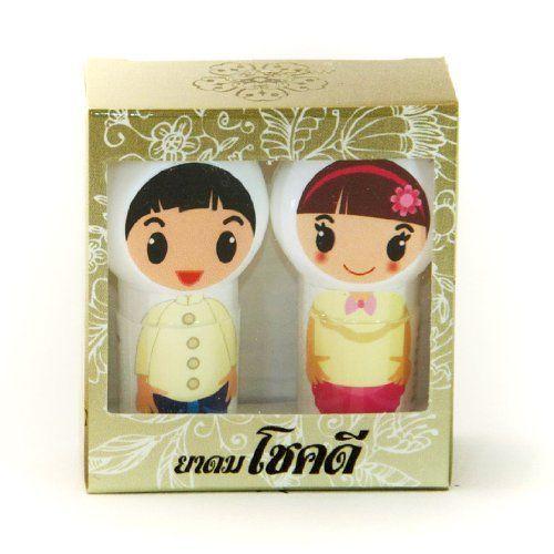 Chokedee Balm Oil Nasal Inhaler 2 Ml, Thai Dressing - Thai Herbal Nasal Inhaler for Relief (1 Box : 2 Pcs.)