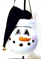 Large snowman painted lightbulb snowman ornament . $12.00, via Etsy.