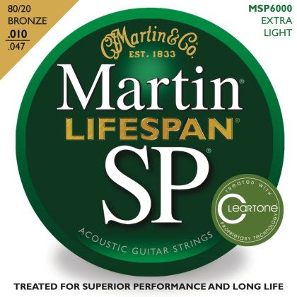 Martin SP Lifespan 80/20 Bronze Acoustic Guitar Strings, 10-47 http://bit.ly/1wy0ePS