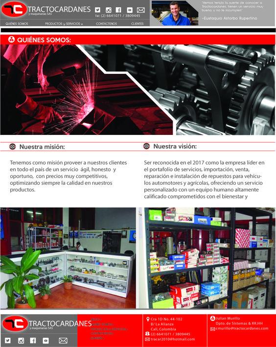-Página web  para Tractocardanes  -fotografía para diseño.