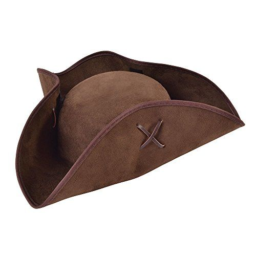 taille unique Bristol Novelty Bh656/Pirate Chapeau de tissu en daim Marron