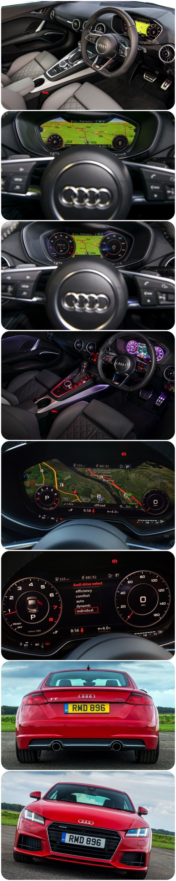 The new virtual cockpit in the New Audi TT.