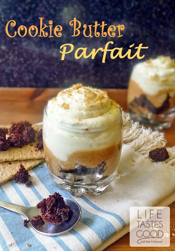 Cookie Butter Parfait | by Life Tastes Good is an incredibly delectable dessert that is super simple to make. #BiscoffSpread #CookieButter