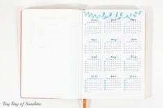 Tiny Ray of Sunshine. Bullet Journal for Blogging & Business #bulletjournal