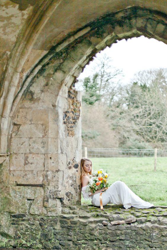 Eleventh Century Abbey Wedding - http://www.2016hairstyleideas.com/wedding/eleventh-century-abbey-wedding.html