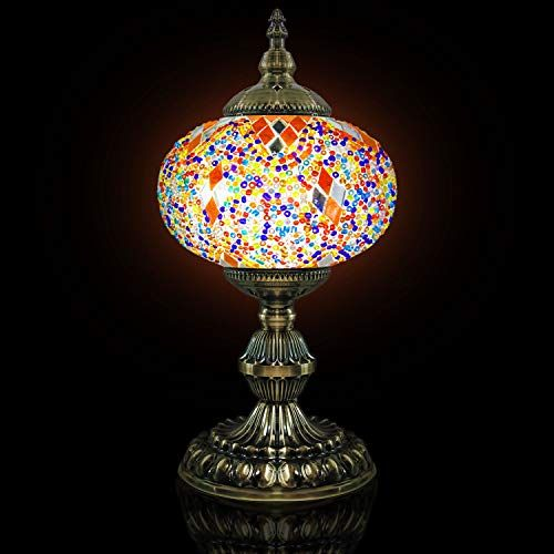 Mosaic Lamp Handmade Turkish Mosaic Table Lamp With Mosaic Lantern Bronze Base Unique Table Lamp For R Mosaic Lamp Unique Table Lamps Glass Bedside Table Lamps