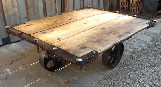 Industrial Trolley Coffee Table
