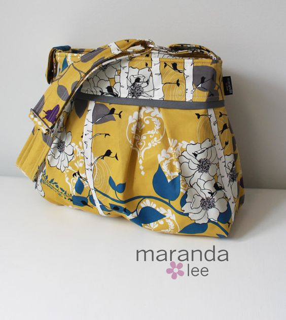 Finnelopy Curry Yellow Diaper Bag:
