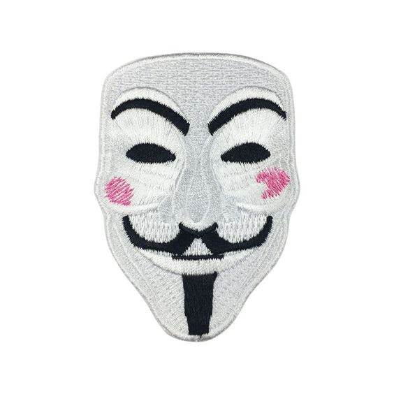 V for Vendetta Mask Individuality Hat patches Embroidered Iron on Patches sew on patches