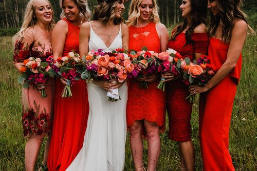Frances Nick Beano S Cabin Beaver Creek Lace And Lilies Red Bridesmaid Dresses Red Bridesmaid Dress Summer Red Bridesmaids