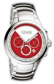 Dolce&Gabbana Dolce & Gabbana D&G Jocelyn Herrenuhr DW0426 Silber/Rot