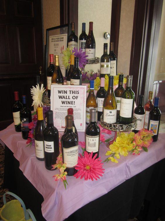 Spring School Fundraiser Wall of Wines