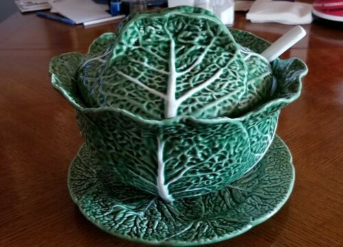 Countryware Style Cabbage Leaf Soup Tureen And Ladle From Portugal Cabbage Soup Green Cabbage Cabbage