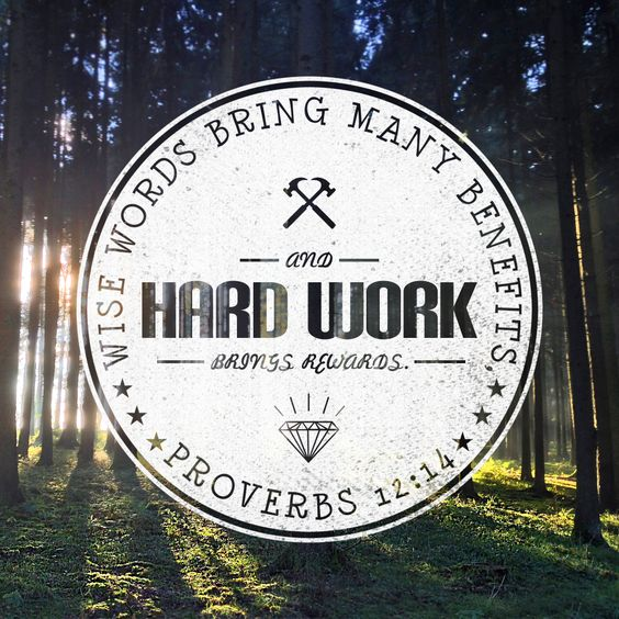 Wise words bring many benefits, and hard work brings rewards ...