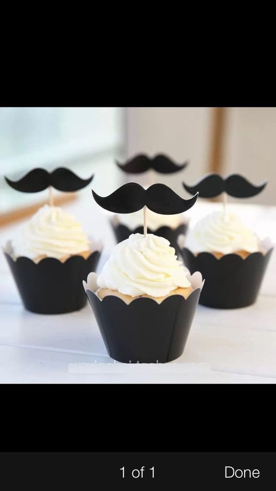 Mustache Moustache Paper Die Cut Outs Cupcake Toppers Straws | eBay