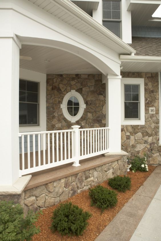 Traditional window and porches on pinterest for Columns for house exterior