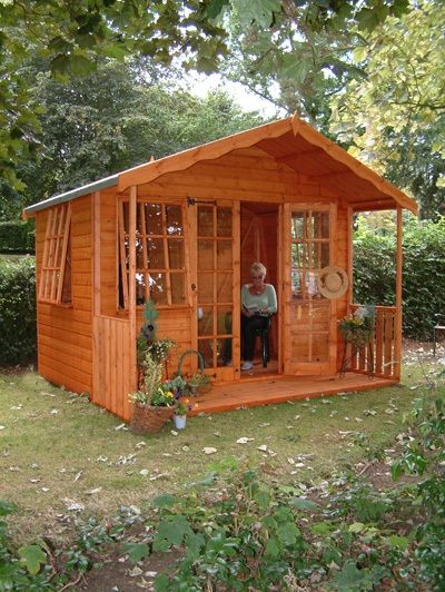 Storage units garden sheds and shed plans on pinterest for Large garden buildings