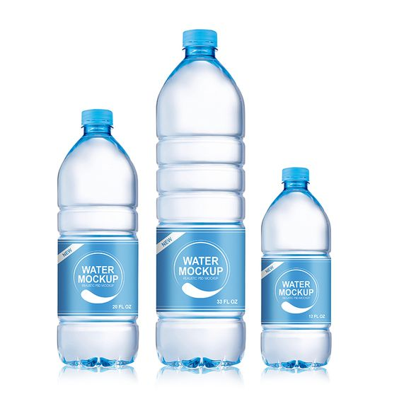 Packreate Mineral Water Plastic Bottle Psd Mockup 3 Sizes Water Bottle Label Design Bottle Label Design Mineral Water Bottle