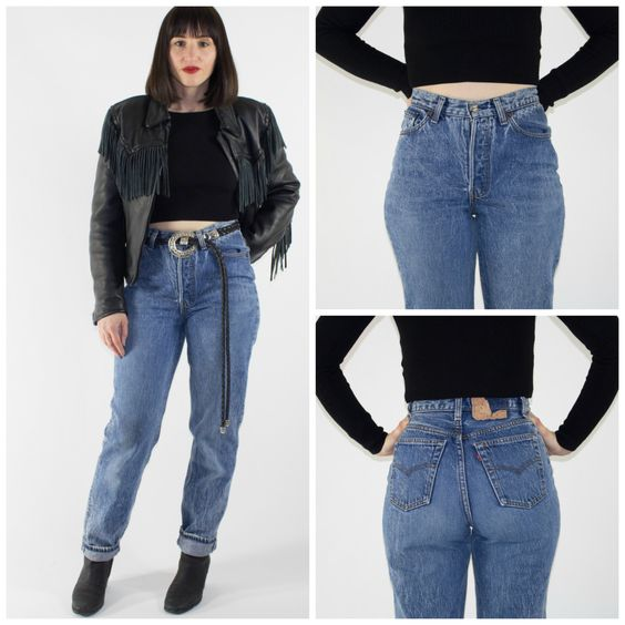 Vintage High Waisted Levi's 501 Jeans | Perfect 90s Denim Pants ...