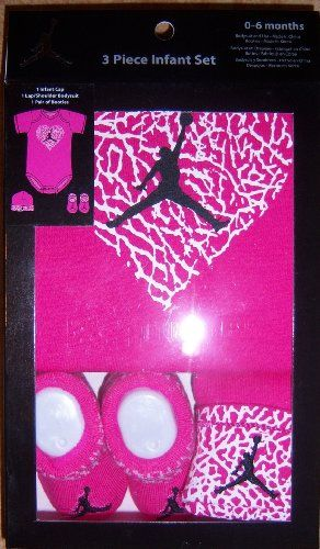 Nike Jumpman23 Jordan Girl Hot Pink 3 Piece Set, Includes ...