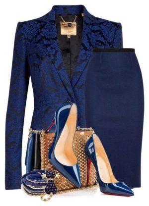 combinaison élégante de bleu - Мода - #bleu #combinaison #de #élégante #Мода