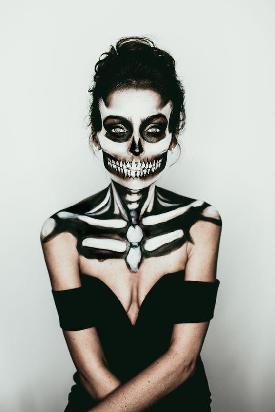 Emmy Lowe Photo Halloween Series Jill Marie Makeup Skeleton Makeup: