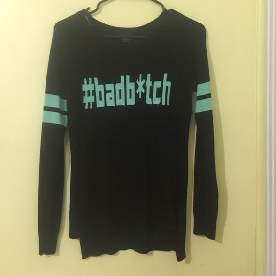 #BADB*TCH Sweater New without Tags, stylish design perfect for any weather. Sweaters Crew & Scoop Necks