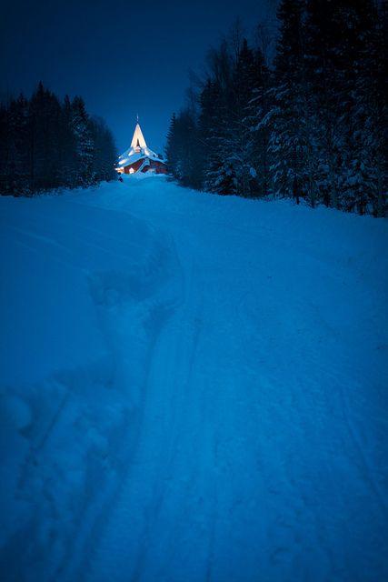 Santa Claus Village at the Arctic Circle in Rovaniemi, Lapland, Finland