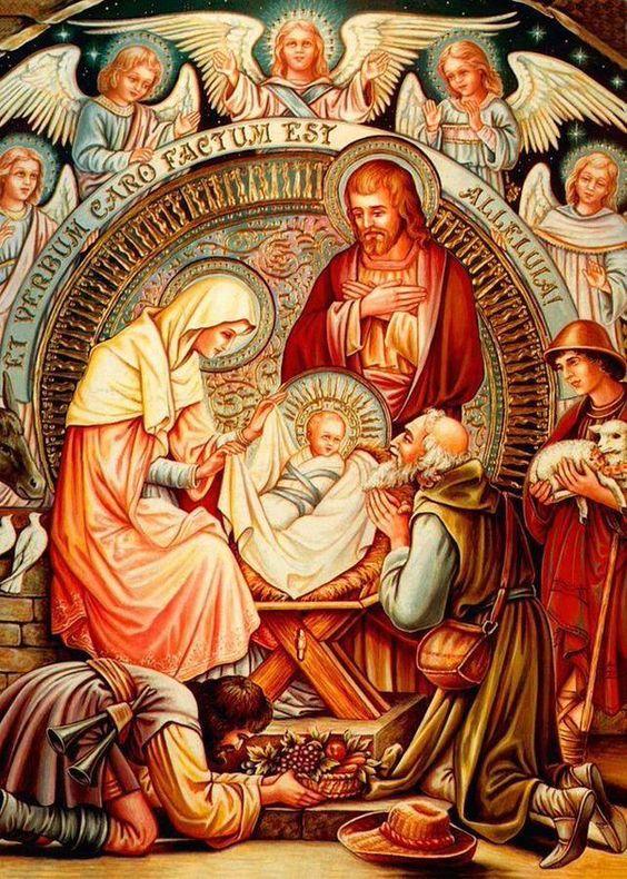 El pequeño Rey Jesús ha nacido.