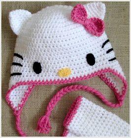 Hello Kitty Crochet - Cat Ears Tutorial