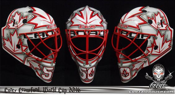 COREY CRAWFORD GOES VINTAGE WITH WORLD CUP 2016 MASK