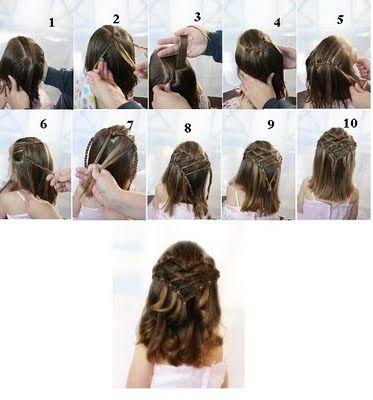 Pleasant 1000 Images About Girls Hairstyles On Pinterest Princess Short Hairstyles Gunalazisus