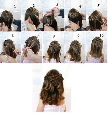 Magnificent 1000 Images About Girls Hairstyles On Pinterest Princess Short Hairstyles Gunalazisus