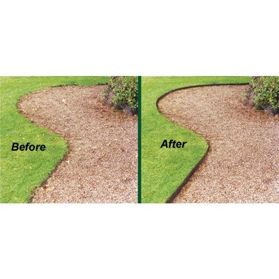 Steel Lawn Edging ( 4 inches high, 16 feet). We have installed this edging throughout our property. It is the only edging to actually stay put! And after about 5 years, it has not rusted, lost it's color or moved. Excellent quality product!