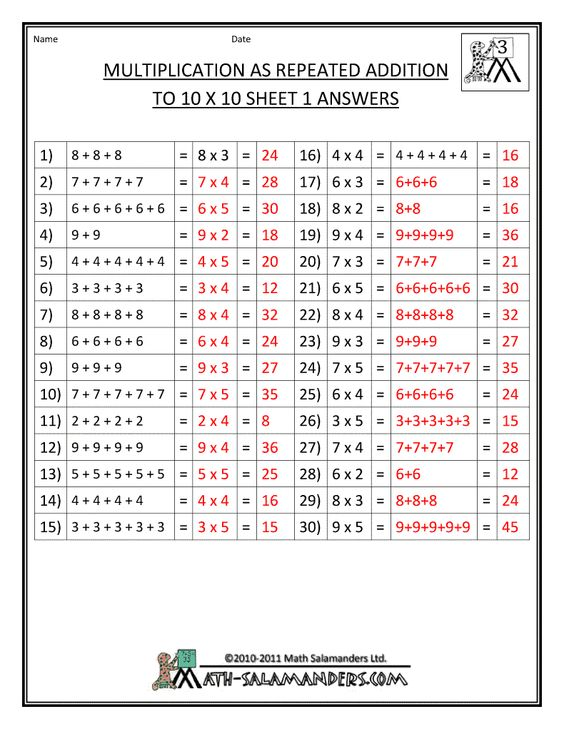 Printables Repeated Addition Worksheets multiplication facts worksheets understanding to as repeated addition sheet 2