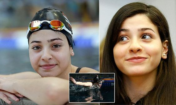 Teen who fled Syria is swimming for glory at Rio 2016 Olympics refugee team   Daily Mail Online