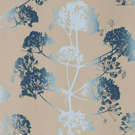 BuyClarissa Hulse Angeliki Paste the Wall Wallpaper, Indigo / Pewter 111399 Online at johnlewis.com