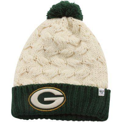 '47 Brand Green Bay Packers Ladies Matterhorn Cuffed Beanie - Natural/Green
