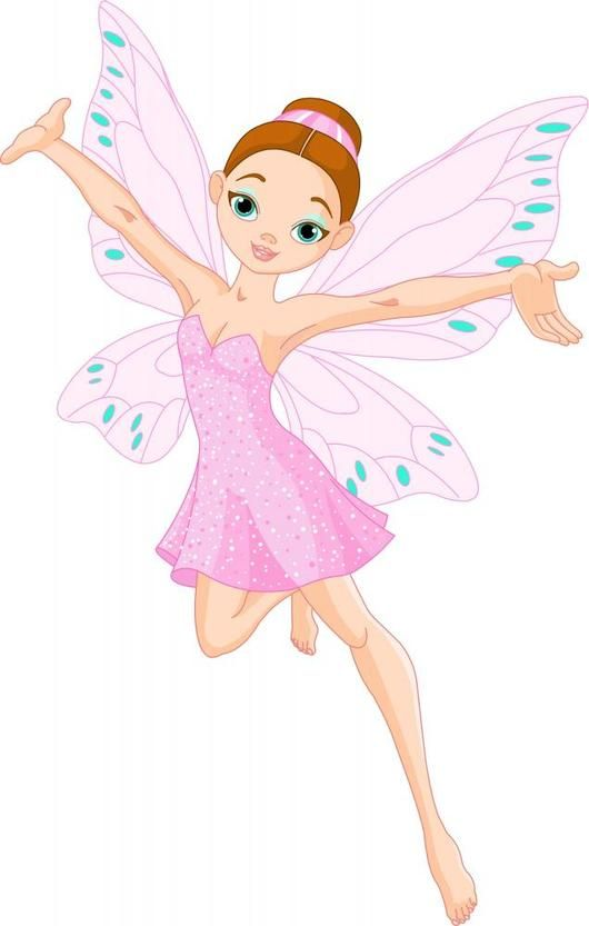 Cute Pink Fairy Wall Decal Fairy Illustration Cute Pink