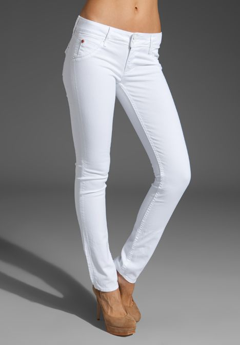 White pants with nude heels