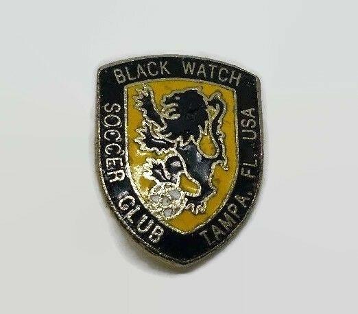 Black Watch Soccer Club Tampa Florida Usa Enamel Lion Sport Lapel Pin Florida Usa Tampa Florida Soccer Club