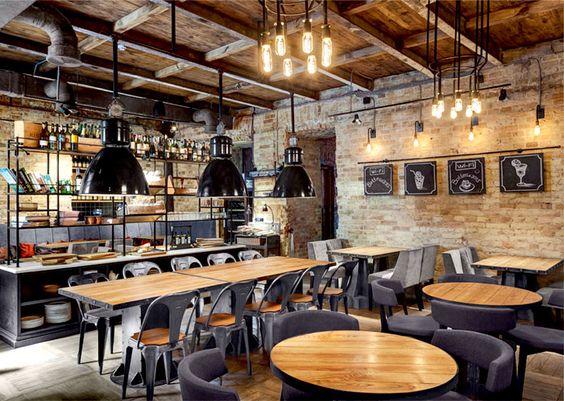 // INSPIRATIONRESTAURANT // AGENCER UN BAR A TAPASSitué dans le centre-ville historique de Kiev , ce nouveau bar & restaurant, Bottega Wine & Tapas, est un véritable joyau pour les amoureux de la cuisine espagnole. Tapas , vins et cocktails sont les principaux produits proposés. Le projet a été réalisé par une jeune équipe de designers, Kleydesign.Le bois, la brique et le métal sont les principaux matériaux du restaurant .Le restaurant est composé de deux grandes pièces, avec le bar...