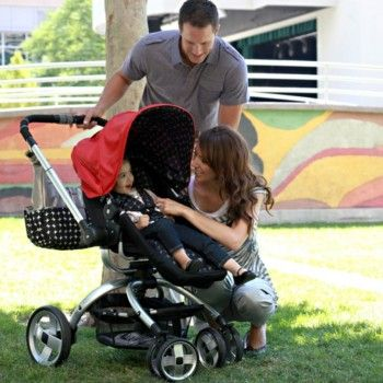 The JJ Cole Broadway Stroller easily converts from bassinet mode to a toddler seat for fashionable versatility. With full 360 degree spin, adjustable handle height and multiple positions for your child...