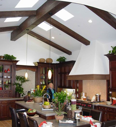 Pinterest the world s catalog of ideas for Fake wood beams for ceiling