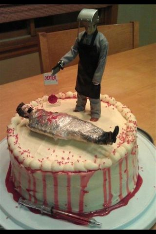 Dexter B-Day cake! Most AWESOME!